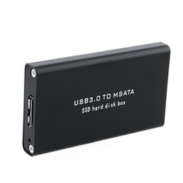 Discount msata ssd disk - Wholesale- 5Gb s USB 3.0 to mSATA SSD Enclosure USB3.0 to mini-SATA Hard Disk adapter SSD External HDD Mobile Box
