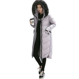 Parkas Women S Outerwear Canada - 2016 New Winter Collection Winter Jacket Women Slim Female Coat Thicken Parka Hooded Outerwear Fox Fur Collar S-XXL Black Gray