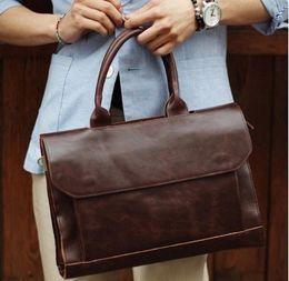$enCountryForm.capitalKeyWord Canada - Wholesale- HOT!! 2015 new men messenger bags men 100% genuine leather bag brand luxury high quality laptop shoulder bags briefcase for men