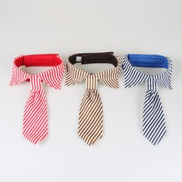 grooming apparel NZ - 3 Color Stripes Large Dog Neckties For Big Puppy Pet Dogs Adjustable Ties Grooming Bow Ties Pet Accessories Dog Apparel