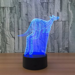 $enCountryForm.capitalKeyWord Canada - New 3D kangaroo Illusion Night Lamp 7 RGB Colorful Lights USB Powered with Battery Bin Touch Button Wholesale Dropshipping