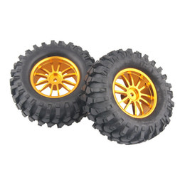 $enCountryForm.capitalKeyWord UK - 4x Aluminum Wheel Rubber Tires Sponge Rim RC Climbing Car Racing 123G-7006