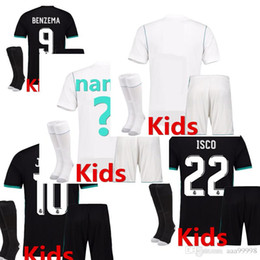 7ea027ddf1c ... free shipping best champions league 17 18 real madrid kits adult soccer  jerseys adult kids 9c45c