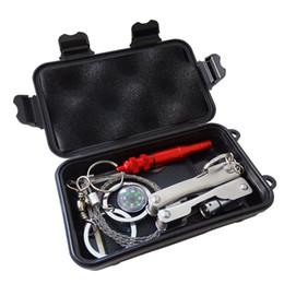 Multitools карманный комплект выживания открытый кемпинг оборудование туризм рюкзак аварийного выживания путешествия комплекты SOS EDC инструмент многофункциональный коробка