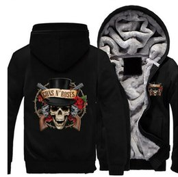 $enCountryForm.capitalKeyWord NZ - free delivery Hooded Sweater New Men 's Garment Sweater Guns N' Roses Loose Cardigan Trousers Tide Men