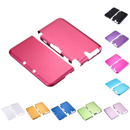 Discount 3ds covers - Wholesale- H3#R Hot Sale Muliti Color Aluminium Hard Box Shell Case Skin Cover Case For  3DS XL LL High Quality