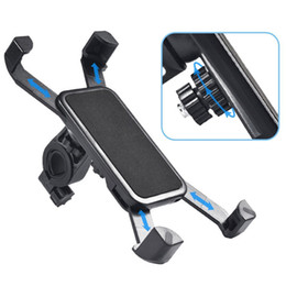 universal mounts Canada - Anti-Slip Universal 360 Rotating Bicycle Bike Phone Holders Handlebar Clip Stand Mounts Bracket For Smart Mobile Cellphone