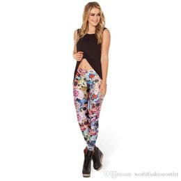 high space leggings NZ - Fashion Skinny Leggings Womens pants Sexy Patterned Girl Graffiti Print Leggings Halloween Skull Tights Space pants Day of The Living Dead