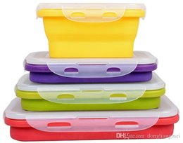 $enCountryForm.capitalKeyWord Australia - Marki foldable silicone lunch box picnic Outdoor Portable bucket or crisper food storage container 350ml 540ml 800ml 1200ml h127