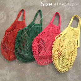 Discount christmas tote bags wholesale - New Fashion Multifuction Foldable Bags Mesh Shopping Bags Eco Reusable Shopping Tote Bags Shopping Bag Storage Pouch B11