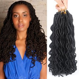 "2018 synthetic afro hair braid Faux Locs Curly Crochet Hair 24 Roots 24"" Afro Fashion crochet curly Crochet Braids Hair Extentions Synthetic Braid"