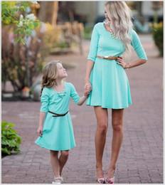 Match Dresses For Mom Daughter Canada - Family matching clothing mother daughter matching dresses mother and daughter clothes mom daughter dresses princess dresses for kids A772