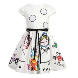 China Girls Summer Dress Kids Clothes Baby Girl Dress with Sashes Robe Character Princess Dress Children Clothing suppliers