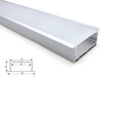 led linear tube UK - 50 X 1M sets lot Linear flange led aluminium profile and 90mm wide T channel profile for ceiling or wall lamp