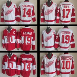 e320f0f17 ... nhl white netherlands mens detroit red wings shanahan hull yzerman  delvecchid ice hockey jersey adult retro 100 stitched ...