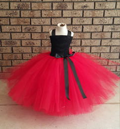 $enCountryForm.capitalKeyWord Canada - red black Kids girls clothes hand-made Dress nice Clothes lovely baby girls wedding party bridesmaid tutu dress