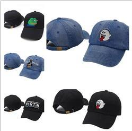 564d1c23148 2017 distressed Boo Mario Ghost black cowboy bad hiss Mario Ghost dad hat  hip-hop baseball caps snapback Martin Show hats for men women