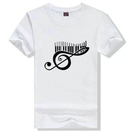 $enCountryForm.capitalKeyWord NZ - Music note T shirt Nice syllable short sleeve gown Picture tees Leisure printing clothing Unisex cotton Tshirt