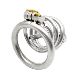 Tube caTheTer belT online shopping - Metal Chastity Cage Cock Rings with Removable Catheter Sound Horse Eye Catheter Tube Male Bodage Sex Toys for Men G173
