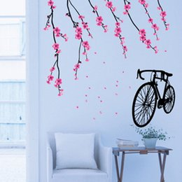 bicycle room 2019 - Bicycle Wall Stickers Children Removable Wallpaper Children Kid Room Cute Hot Sale Decor Large Paper Adhesive Decoration