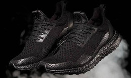 Descuento Zapatos Baratos Baratos-2017 Popular Haven x Ultra Boost Triple negro zapatillas deportivas, Descuento baratos Comfort Training Running Shoes, Casual Runner Sports Shoes