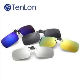 $enCountryForm.capitalKeyWord Canada - Wholesale- Tenlon Glasses Silicone Polarized Clip On Sunglasses Men UV400 Myopia Women Sunglasses Sun Glasses Night Vision Lens