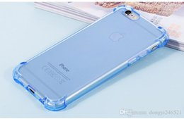 Crystal Clear Phone Cases NZ - Crystal Clear Soft TPU Case for iPhone 7 6s 6 Plus Anti Knock Protective Back Cover for iPhone7 Mobile Phone Protector Cases