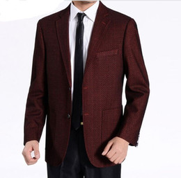 Blazer En Laine D'hiver Hommes Pas Cher-Wholesale-bleiser blash blazer Autumn Winter Warm Velvet Collar Costumes en laine Men Blazer Suit Jacket Men Plus Size M-5XL 2 Couleurs