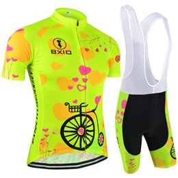Wholesale BXIO Woman Cycling Jerseys Sets Fluorescence Color Cycling Clothing Brand Top Selling Female Bicycle Jersey Ropa ciclismo mujeres BX