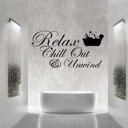 Bathroom Wall Sticker Quotes Australia - For Relax Chill Enjoy Unwind Quote Wall Funny Stickers Art Bathroom Sitting Room Removable Vinyl Decals Diy