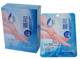 Dry Foot Care Canada - Rolanjona Feet Mask Milk and Bamboo Vinegar Feet Mask Skin Peeling Exfoliating Dry Dead Skin Remover Feet care 1pack=1pair