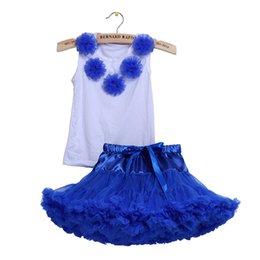 Vente En Gros De Danse Féminine Pas Cher-Vente en gros 2017 enfants mode fille vêtements ensemble filles pettiskirt sets 2 enfants pcs jeu floral jupe tutu princesse anniversaire Party Dance Wear