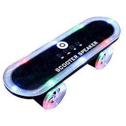radio skateboards 2019 - Cool Skateboard Scooter Design Colorful LED Light Speaker Bluetooth Mini Wireless Stereo Speakers FM Radio Stereo MP3 Mu