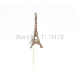 eiffel cake topper Australia - NEW 2017 Custom personality cheap glitter Eiffel Tower Paris cupcake topper Birthday wedding party food toothpicks