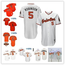 18e5301fd ... authentic throwback mlb Mens Baltimore Orioles 5 Brooks Robinson 1954  1966 1970 1975 Throwback MLB Baseball Jerseys free ...