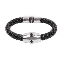 $enCountryForm.capitalKeyWord UK - 2017 New Unique Braided Religious Cross Bracelets Christian Link Chain Stainless steel Wristbands JesusBracele Jewelry Pattern Free shippin