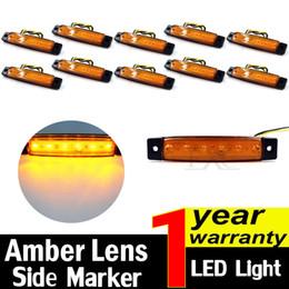 Side marker lightS online shopping - 10 Amber V LED Side Marker Indicators Lights Lamp For Truck Trailer
