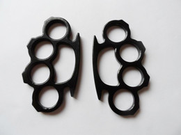 Chinese  free shipping.Biker Black Steel Iron Knuckles Fist Fighting Equipment Outdoor Self-defense tool manufacturers