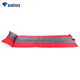 $enCountryForm.capitalKeyWord Australia - Inflatable Mattress Foam Automatic Inflatable Tent Mat Double Cushion Pad Camp Bedding Outdoor Camping Fishing Beach Mat + Bag