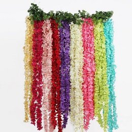 China Artificial Hydrangea Wisteria Flower colorsfull DIY Simulation Wedding Arch Door Home Wall Hanging Garland For Wedding Garden Decoration suppliers