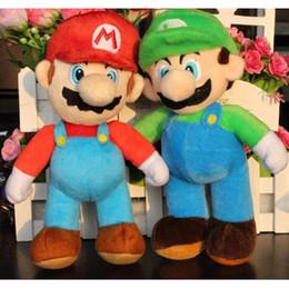 "$enCountryForm.capitalKeyWord Canada - New Hot sale super peluches mario bros plush 25cm=10"" soft toys MARIO & LUIGI pelucia stuffed doll toy cartoon gift for children 029"