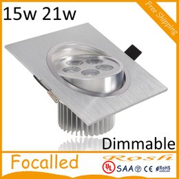 $enCountryForm.capitalKeyWord NZ - Silver high power led downlights dimmable 15W 21W led recessed ceiling lights lamp AC110-240V Warm Cool White+ Drivers 60Angle