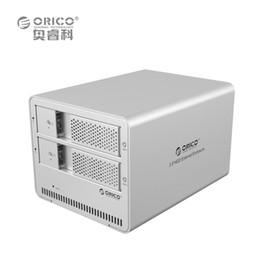 Discount orico external sata hdd enclosure - Wholesale- ORICO 9528U3-SV 2-bay USB3.0 Aluminum 3.5'' External SATA HDD Enclosure Support 12TB Storage