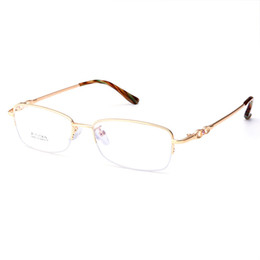 China Wholesale- Gmei Optical S8213 Alloy Metal Semi-Rimless Eyeglasses Frame for Women Prescription Optical Eyewear Glasses cheap rimless eyeglass frames wholesale suppliers