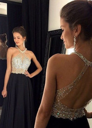 plus size fairy prom dress 2020 - 2019 Halter Sexy Charming Prom Dresses Sleeveless Beaded Floor Length A Line Party Gowns Fairy Tale Style Custom Made Ev