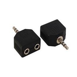 Headphone Speaker Splitter NZ - 3.5mm 1 Male to 2 Female Audio Headphone Splitter Adpater For Earphone Headset Converting Connector Splitter Headphone 600pcs