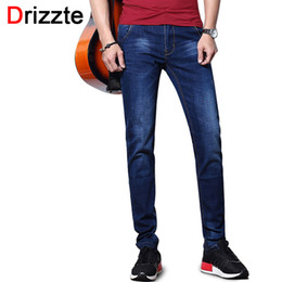 ingrosso 32 36 jeans di moda-All ingrosso Drizzte Fashion Jeans da uomo Summer Stretch Blue Jeans slim Jeans slim fit Taglia Pantaloni Jean