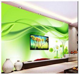 High End Custom 3d Wall Murals Wallpaper Beauty Green Horse Horseshoe Lotus Flower Background Living Room Decoration