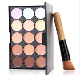 Nice coNtrols online shopping - 15 Colors Contour Camouflage Palette Face Cream Makeup Concealer Palette Contouring Makup Palette With Brush Nice Salon sets