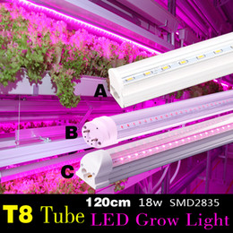 Tube Lights Wholesale NZ - T8 18W 120CM AC vegetable grow light tube 1pc retail for Organic farming indoor full spectrum 380-780nm